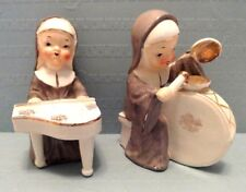 VINTAGE THAMES JAPAN NUNS PLAYING DRUM & PIANO FIGURINES