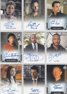 Agents of Shield Season 2 Autograph / Auto Card Selection