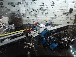Lot of 12 Tonkin Trailers Flatbeds Peterbilt  Semi  Trucks 1: 53 Scale No Boxes