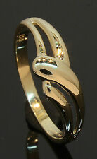 9 Carat Yellow Gold Fancy Overlap Ring Size O 9CT (80.20.045)