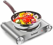 Techwood Portable Stainless Steel Electric Hot Plate infrared Burner 1200W