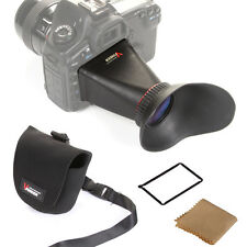 "3"" LCD Viewfinder 2.8x for Canon 5D Mark III II 600D 550D Nikon D600 D5100 D5200"
