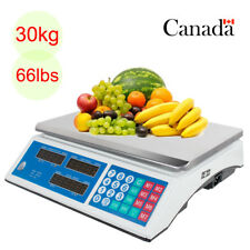 Digital Scale Deli Food Price Computing Retail 66lb Fruit Produce Counting LB/KG