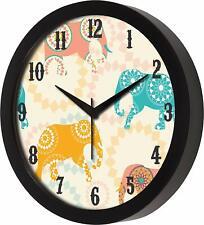 Elephant Designer Wall Clock for Home Living Room Bedroom Digital Print