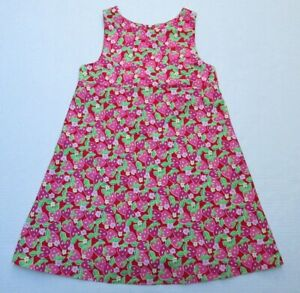 🍓 LILLY PULITZER girls strawberry dress 10 floral vintage white label FREESHIP