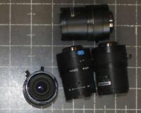 "(4) Computar CCTV 2.8-12mm 1/3"" 1:1.3 Security Camera Lens Lot of 4"