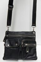 Fossil Sutter Black Leather Crossbody Bag