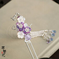 Chinese Classical Ladies Hairpin Hair Accessories Step Shake Amethyst Shell Pear