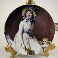 "Limoges Victorian 7.5"" Portrait Plate-Mother & Child"