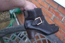 Brown Leather Ankle Boots by Clarks Size UK 6 rrp £79