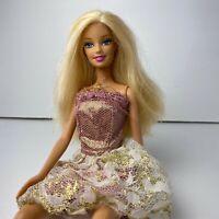 Vintage 1999 Barbie Mattel Dressed Dress Pink Blonde Fashion Doll