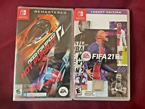 Lot of 2 Nintendo Switch Games: Need for Speed: Hot Pursuit Remastered & FIFA 21