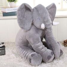 New Gray Baby Kids Xmas Gift Elephant Doll Soft Plush Stuff Toys Lumbar Pillow