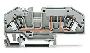WAGO 2 Leiter Sicherungsklemme 282-696 grau für KFZ-Sicherung 1 STK