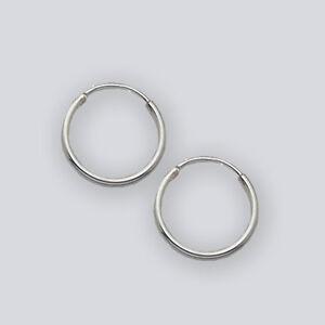 """12mm Sterling Silver Hoop Earrings (1/2 """"Hoops) #2023"""
