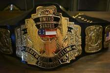 WCW UNITED STATES US CHAMPIONSHIP BELT IN 4MM ZINC  GOLD PLATED