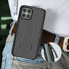 For iPhone Mini 12 Pro Max Heavy Duty Hybrid Armor Holster Belt Clip Case Cover