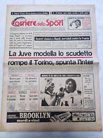 CORRIERE DELLO SPORT 6-2-1978 JUVENTUS NAPOLI PESCARA INTER PIERO GROS SCI