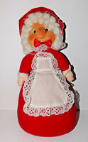 Vintage Mrs Claus Plush Doll 15in Rennoc 1983 Santa Rare Rubber Face Christmas