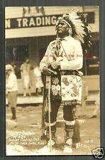 Ojibwe Ojibwa Indian Spirit Buffalo rppc Mille Lacs Lake MN 1926