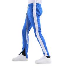 New EPTM. Men's Hip Hop Poly Side Ankle Zip Long Drawstring Techno Track Pants