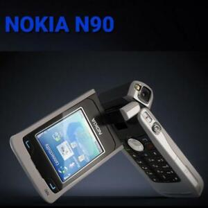 100% BRAND NEW RARE Nokia N90 GSM mobile phone Silver Black Non-Retail Packaging