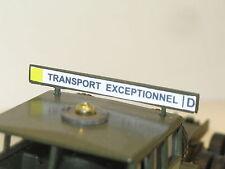 SOLIDO, bandeau  TRANSPORT EXEPTIONNELLE  berliet T12 militaire, version 70'