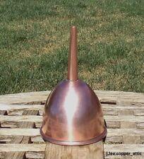 "Copper 5"" Wine Funnel w/ Air Crimp, rolled rim & tin lining"