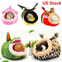 Small Animal Soft Warm Bed Pet Hammock Hamster Rat Guinea Pig House Nest Pad HX