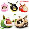 Small Animal Soft Warm Bed Pet Hammock Hamster Rat Guinea Pig House Nest Pad