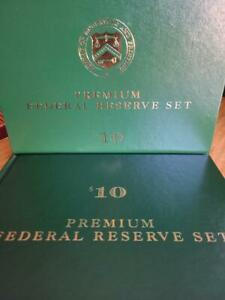 1999 $10 PREMIUM FEDERAL RESERVE SET-  12 $10, ALL WITH SERIAL #99999972
