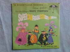 Vintage Walt Disney's Mary Poppins Supercalifragilistic 45 record Rare 1962