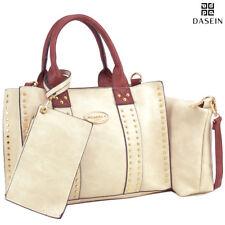 New Dasein 3pcs Women Handbags Faux Leather Satchel Tote Shoulder Bag Day Purses