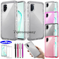 Samsung Galaxy Note 10 Plus Clear Case Shockproof Rubber Cover Screen Protector