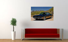 """BLACK DODGE CHARGER RT PRINT WALL POSTER PICTURE 33.1""""x20.7"""""""