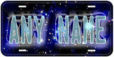 Galaxy Stars Personalized Any Name Auto Car License Plate A01