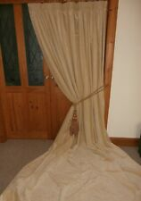 "Extra LONG Cream Bespoke Velvet DOOR Curtain 119""Drop ~ 88""Wide.CLEANED."
