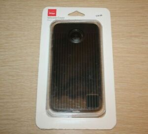 VERIZON Silicone Cover Case for Moto Z Play Droid - Black Textured NEW