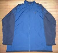 Adidas Windbreaker Full Zip Track Jacket Mens XL Blue Nylon 2 Pockets AGC002