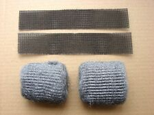 Silicon Carbide Abrasive Strips 2 x 200mm + 2 x Steel Wire Wool Pads