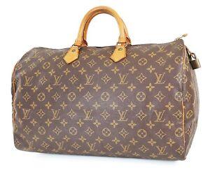 Authentic LOUIS VUITTON Speedy 40 Monogram Boston Handbag Purse #38645