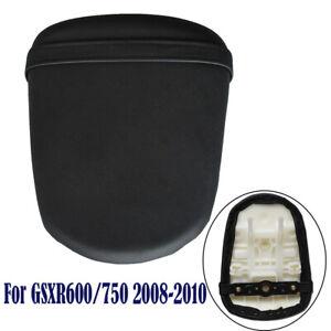 Black Rear Passenger Seat Pillion Pad For SUZUKI GSXR 600 GSX-R750 K8 2008-2010