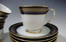 Legacy by Noritake Vienna 2796 White/Cobalt Gold Trim Tea Cup and Saucer