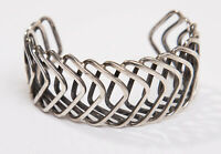 Vintage Mexico Mexican Oxidised Sterling Silver Bangle