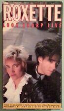 roxette  LOOK SHARP LIVE     VHS VIDEOTAPE