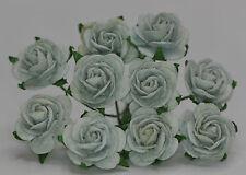 50 GREYISH GREEN (Celadon) ROSE (1.5cm) Mulberry Paper wedding crafts cardmaking