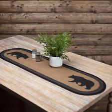 "WYATT BEAR JUTE Table Runner Braided Jute Rustic Farmhouse VHC Brands 13""x 36"""