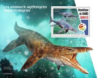 Guinea Dinosaurs Stamps 2020 MNH Prehistoric Water Aquatic Animals 1v S/S