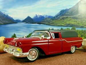 Road Signature by Yatming 1/18 '57 Ford sedan Delivery 2tone Maroon/Black WSW V8