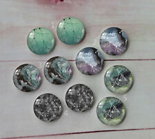 constellation Round Photo Glass Cabochon Dome Flat Back Cover 10PCS 12mm A80
